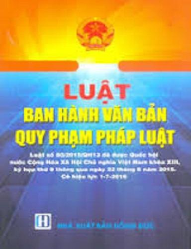 Sách Luật Ban Hành Văn Bản Quy Phạm Pháp Luật