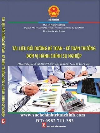 Tài liệu bồi dưỡng kế toán trưởng đơn vị hành chính sự nghiệp